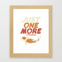 Japanese Koi Shirt exotic pond carp gift Framed Art Print
