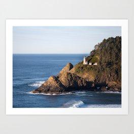 Hecenta Head Lighthouse Art Print