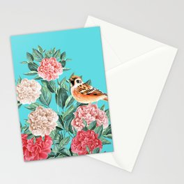 Bird in Turquoise Stationery Cards