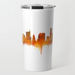 Austin Texas, City Skyline, watercolor  Cityscape Hq v2 Travel Mug