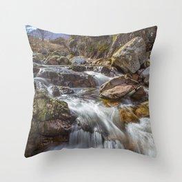 Falls at Glencoe Throw Pillow