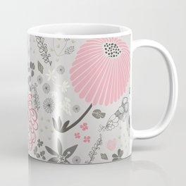 Field of Flowers on Grey Coffee Mug