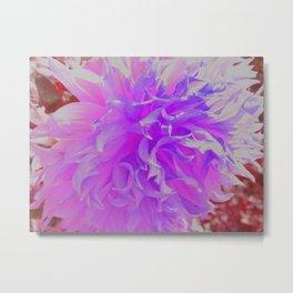 Elegant Ultra-Violet Decorative Dahlia Flower Metal Print