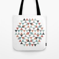 hexagon Tote Bags featuring Hexagon by Pavel Saksin