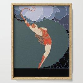 "Art Deco Illustration ""The Dancer"" Serving Tray"