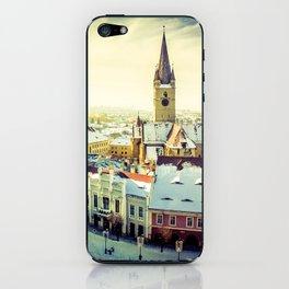 Cityscape of Sibiu, Romania iPhone Skin