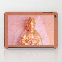budi satria kwan iPad Cases featuring Rose-Bronze Kwan Yin by Jan4insight