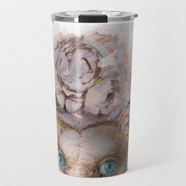 Animal Art - Owl Painting Travel Mug
