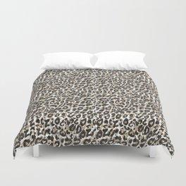 Elegant gold leopard animal print pattern Duvet Cover