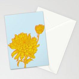 Chysanthemum in Saffron Stationery Cards