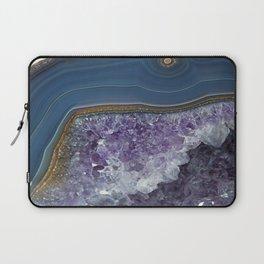 Amethyst Geode Agate Laptop Sleeve