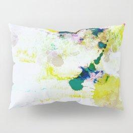 Abstract Paint Splatter Art Pillow Sham