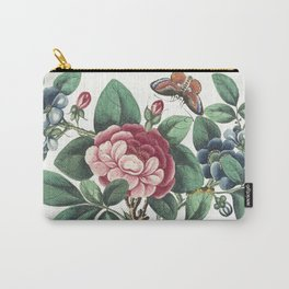Red Flowers with butterflies Carry-All Pouch