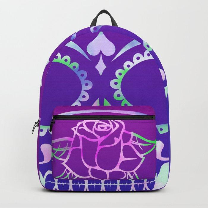 Love Skull (violette gradient) Backpack