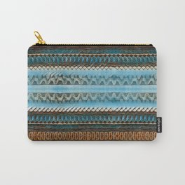 Candle Arches: Jagged/Sharp -  Blue Orange Brown Carry-All Pouch