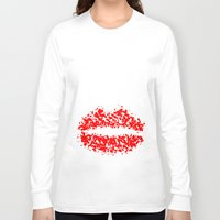 lips Long Sleeve T-shirts featuring LIPS by ROBAUSCH