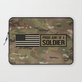 Proud Aunt of a Soldier Laptop Sleeve