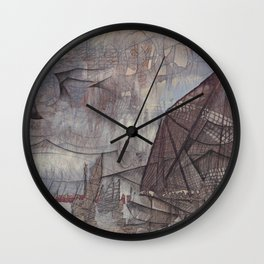 Crossing the Blurred Line Between Us Wall Clock