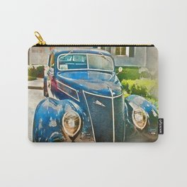 Blue Classic Car Carry-All Pouch