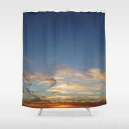 Orbs at Sunset Shower Curtain