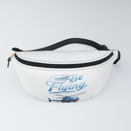 I'd Rather Be Flying Retro Helicopter Pilot Fanny Pack