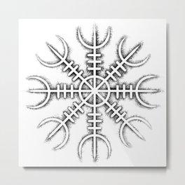 Helm of Awe [Black | Crust] Metal Print