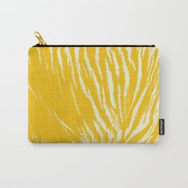 Tiger print Yellow Carry-All Pouch