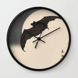 Moonlight Flying Bat Wall Clock