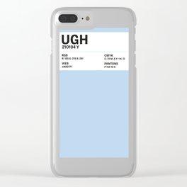 Ugh - Colour Card Clear iPhone Case