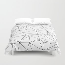 Black and White Geometric Minimalist Pattern Duvet Cover