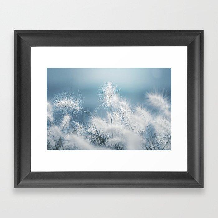 the art of a soft landing Framed Art Print