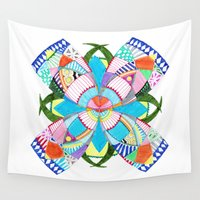 blossom Wall Tapestries featuring Blossom by Heaven7