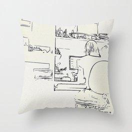 Workroom details Throw Pillow