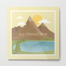 All Things New - yellow (version 2) Metal Print