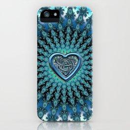 Celtic Heart Knot Fractal Mandala iPhone Case