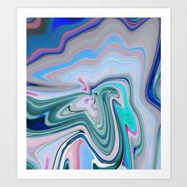 Pastel Layers Art Print