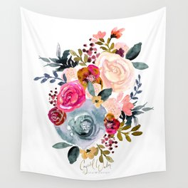 Autumn Rose Wall Tapestry
