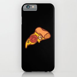 Delicious pizza slice with melting cheese iPhone Case
