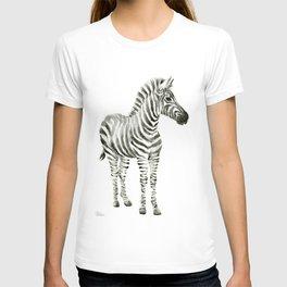 Zebra Watercolor Baby Animals T-shirt