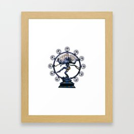 Shiva Nataraj, Lord of Dance (an actual factual fractal) Framed Art Print