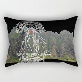 rocky mountain woman Rectangular Pillow
