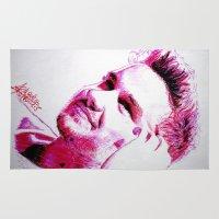 liam payne Area & Throw Rugs featuring Liam Payne by Drawpassionn