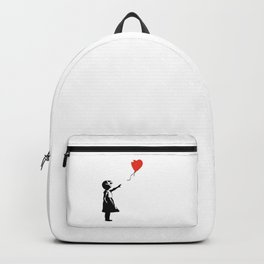 Girl with Balloon - copy of Banksy work Backpack