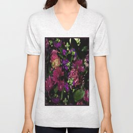 Sultry Bouquet Unisex V-Neck