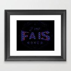 j'me fais rêver - 1 - FlowerYellow Framed Art Print