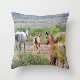 Band of Horses Throw Pillow