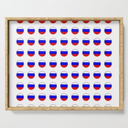 Flag of russia 4 -rus,ussr,Russian,Росси́я,Moscow,Saint Petersburg,Dostoyevsky,chess Serving Tray