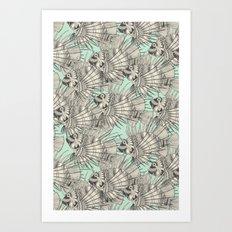 fish mirage mint Art Print