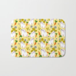 Rabbit Food Bunnies Carrots Dandelions Bath Mat