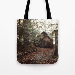 Cabin on Pleasant Lake Tote Bag